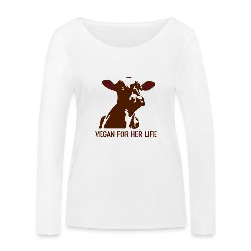 vegan for her life - Frauen Bio-Langarmshirt von Stanley & Stella