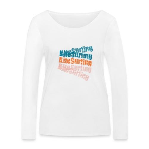 Kiteboard   Zensitivity beach - Vrouwen bio shirt met lange mouwen van Stanley & Stella