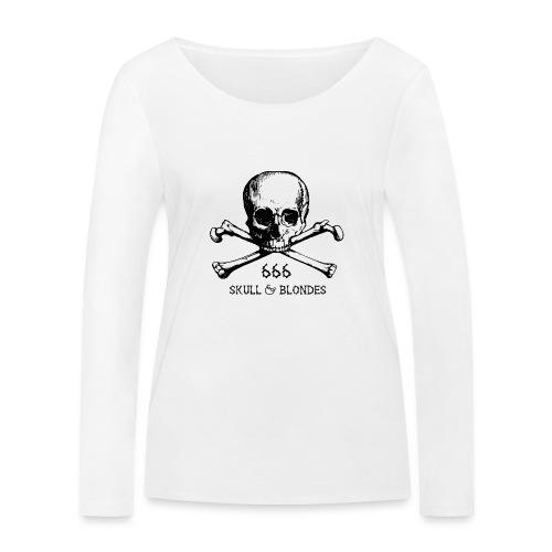 skull & blondes (black) - Frauen Bio-Langarmshirt von Stanley & Stella