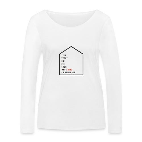 Vrienden van Robin Visser Muziek - Vrouwen bio shirt met lange mouwen van Stanley & Stella