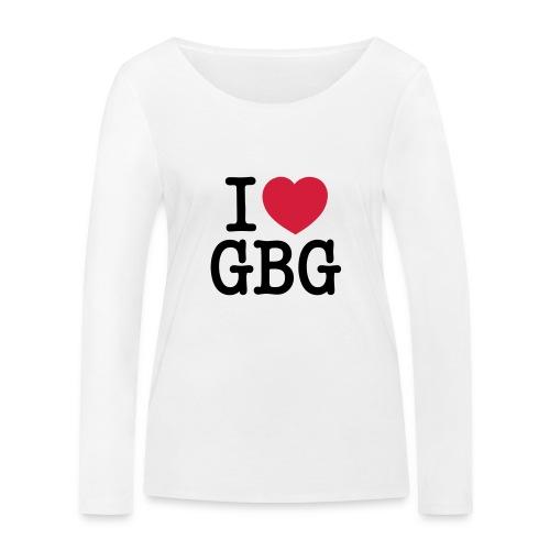 I love GBG - Ekologisk långärmad T-shirt dam från Stanley & Stella