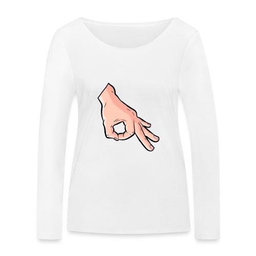 The Circle Game Ok Emoji Meme - Women's Organic Longsleeve Shirt by Stanley & Stella