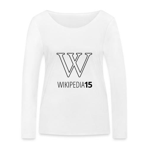 W, rak, vit - Ekologisk långärmad T-shirt dam från Stanley & Stella