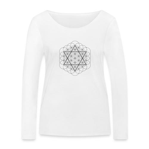 Flower of life and David Star - Økologisk Stanley & Stella langærmet T-shirt til damer