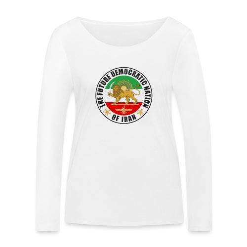 Iran Emblem Old Flag With Lion - Women's Organic Longsleeve Shirt by Stanley & Stella