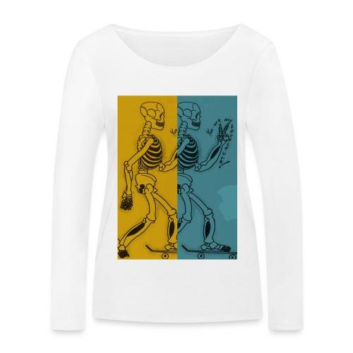 Esqueleto skater: You are my structure! - Camiseta de manga larga ecológica mujer de Stanley & Stella