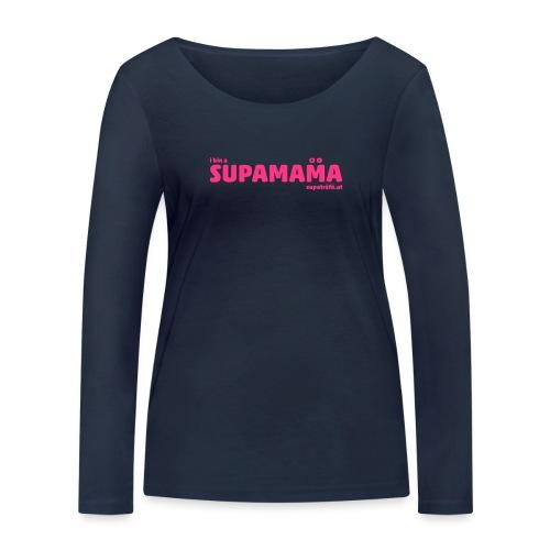 i bin supamama - Frauen Bio-Langarmshirt von Stanley & Stella