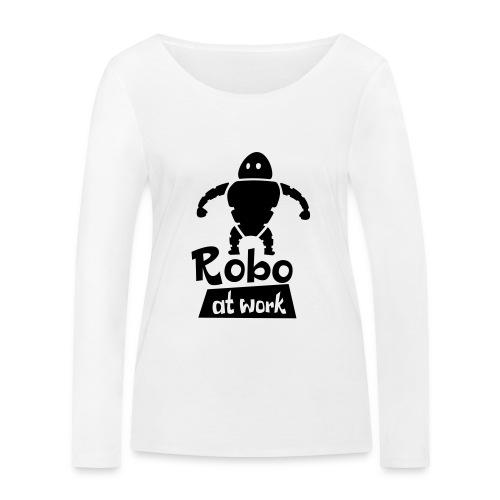 robot at work - Frauen Bio-Langarmshirt von Stanley & Stella