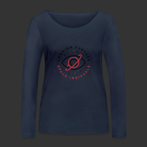 Space Individuals - Looking Further White - Women's Organic Longsleeve Shirt by Stanley & Stella
