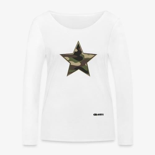 camo star - Women's Organic Longsleeve Shirt by Stanley & Stella