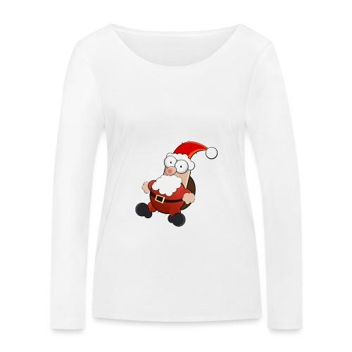 Mikołaj - Ekologiczna koszulka damska z długim rękawem Stanley & Stella