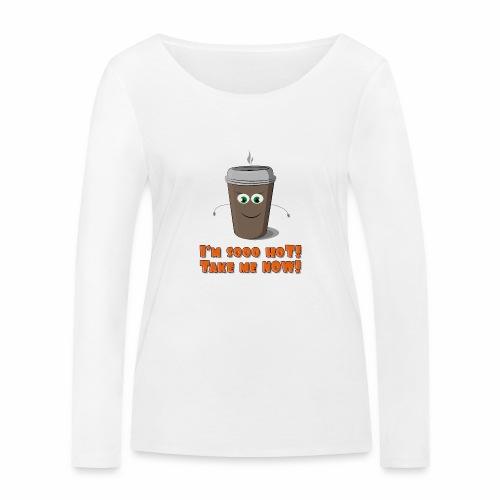 Coffee to go - Ekologiczna koszulka damska z długim rękawem Stanley & Stella