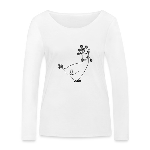 Cosmic Chicken - Women's Organic Longsleeve Shirt by Stanley & Stella
