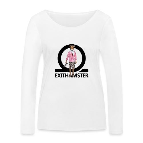 EXITHAMSTER LOGO WHITE BG - Women's Organic Longsleeve Shirt by Stanley & Stella