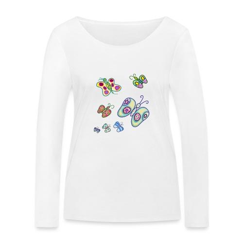 Allegria di farfalle - Maglietta a manica lunga ecologica da donna di Stanley & Stella