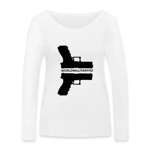 WorldMilitaryHD Glock design (black) - Vrouwen bio shirt met lange mouwen van Stanley & Stella