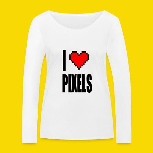 I Love Pixels - Ekologiczna koszulka damska z długim rękawem Stanley & Stella