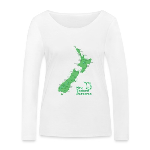 New Zealand's Map - Women's Organic Longsleeve Shirt by Stanley & Stella