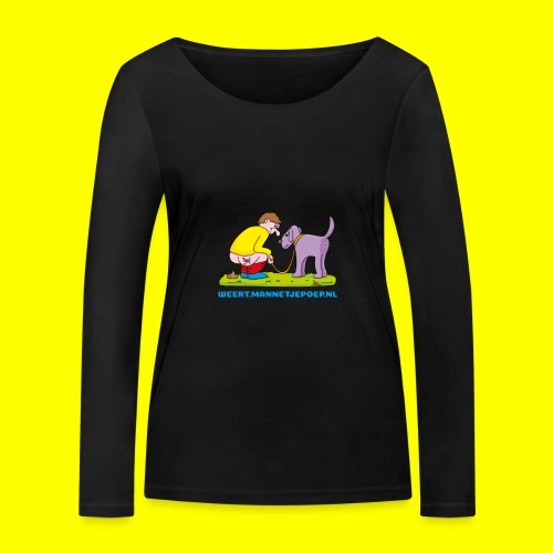Mannetje Poep Illustratie - Vrouwen bio shirt met lange mouwen van Stanley & Stella