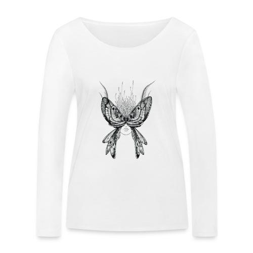 Nachtfalter - Frauen Bio-Langarmshirt von Stanley & Stella