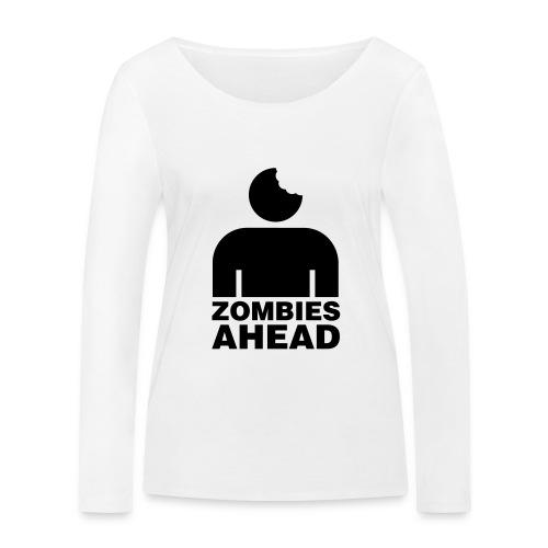 Zombies Ahead - Ekologisk långärmad T-shirt dam från Stanley & Stella