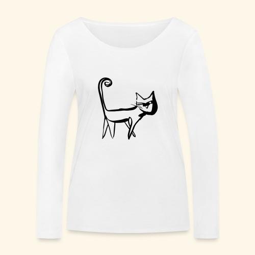 Katze - Frauen Bio-Langarmshirt von Stanley & Stella