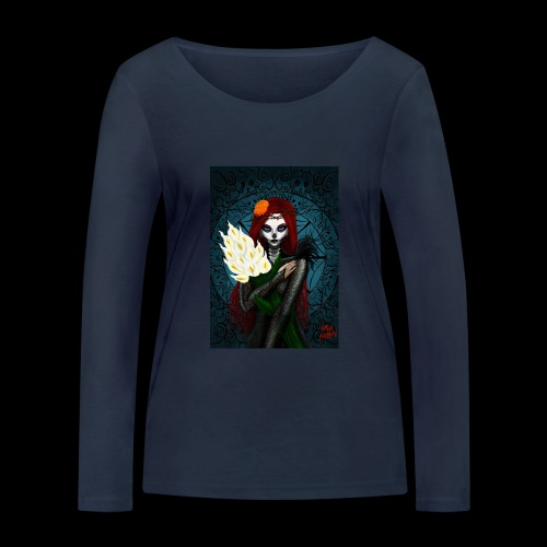 Death and lillies - Women's Organic Longsleeve Shirt by Stanley & Stella