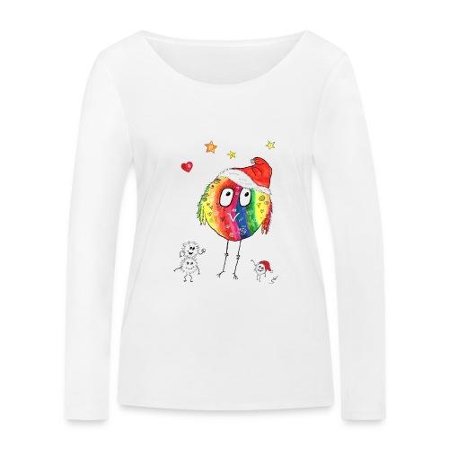 Happy Weihnachtskugelbird - Frauen Bio-Langarmshirt von Stanley & Stella