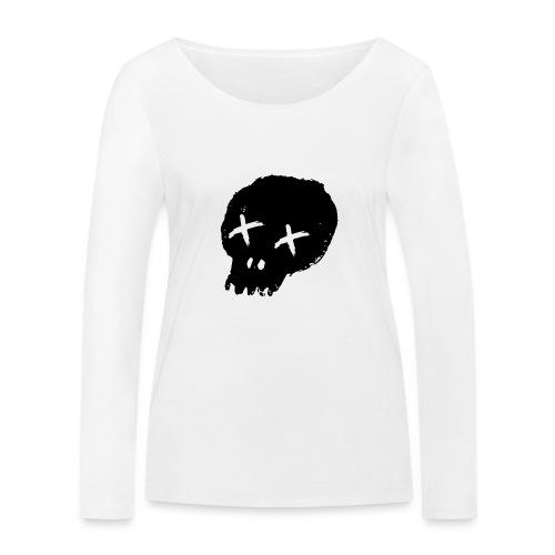 blackskulllogo png - Women's Organic Longsleeve Shirt by Stanley & Stella