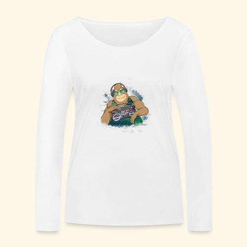 Gorilla Jungle Hiphop - Camiseta de manga larga ecológica mujer de Stanley & Stella