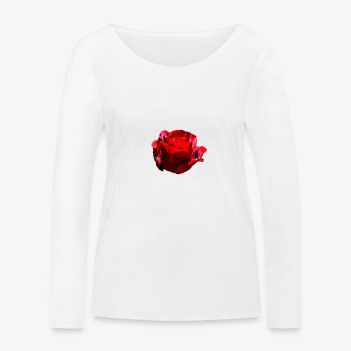 Red Rose - Frauen Bio-Langarmshirt von Stanley & Stella