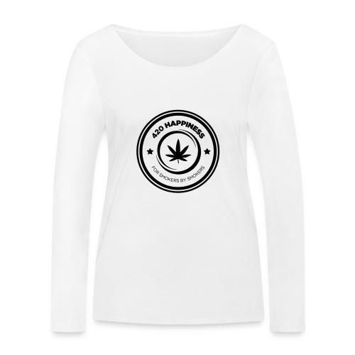 420_Happiness_logo - Økologisk Stanley & Stella langærmet T-shirt til damer