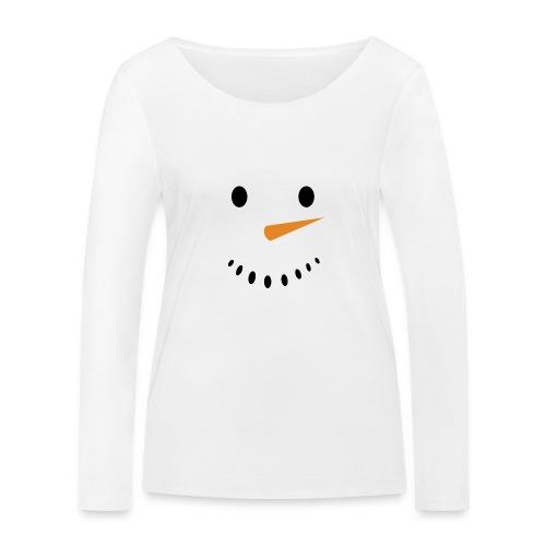 Bonhomme de neige Noël Hiver - T-shirt manches longues bio Stanley & Stella Femme