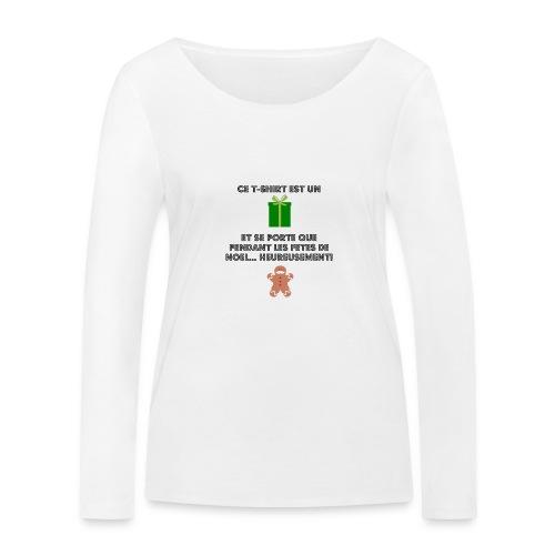 T-shirt cadeau de Noël - T-shirt manches longues bio Stanley & Stella Femme