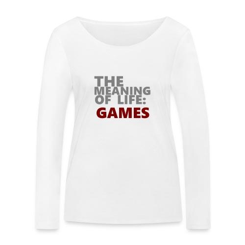 T-Shirt The Meaning of Life - Vrouwen bio shirt met lange mouwen van Stanley & Stella