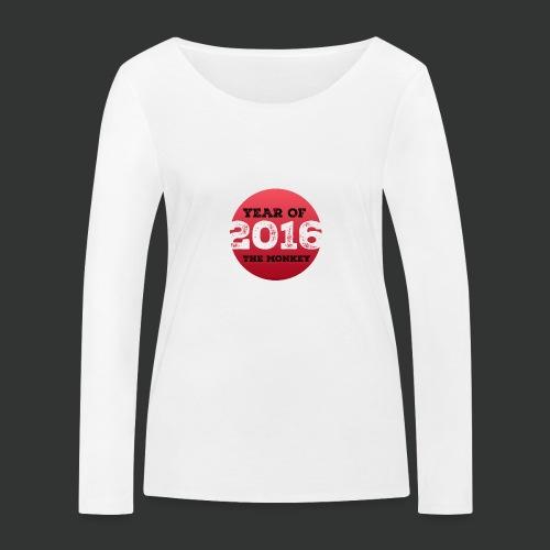 2016 year of the monkey - Women's Organic Longsleeve Shirt by Stanley & Stella