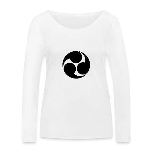 Kobayakawa Mon Japanese clan black - Women's Organic Longsleeve Shirt by Stanley & Stella