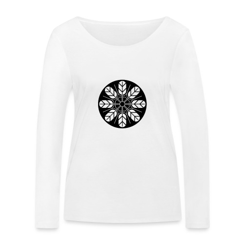Inoue clan kamon in black - Women's Organic Longsleeve Shirt by Stanley & Stella