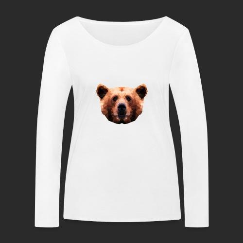 Low-Poly Bear - Frauen Bio-Langarmshirt von Stanley & Stella