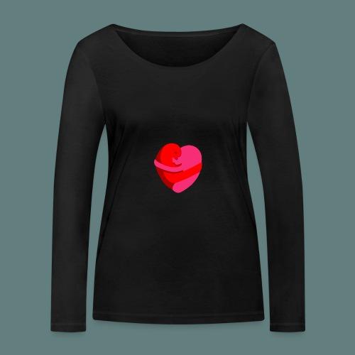 hearts hug - Maglietta a manica lunga ecologica da donna di Stanley & Stella