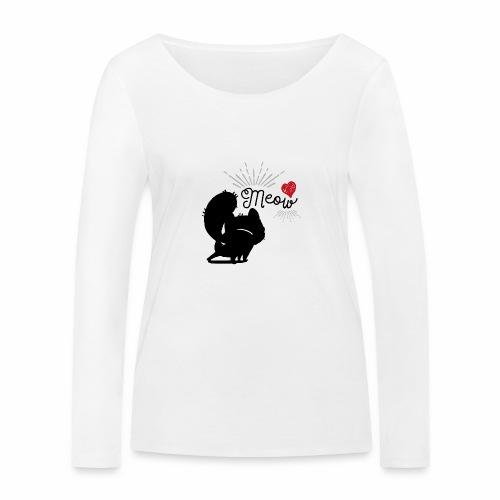 gatto meow - Maglietta a manica lunga ecologica da donna di Stanley & Stella