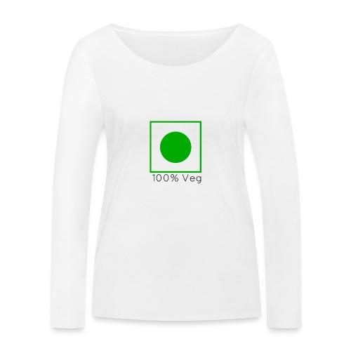 100veg-png - Ekologisk långärmad T-shirt dam från Stanley & Stella