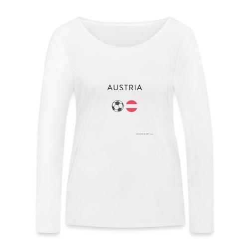 Austria Fußball - Frauen Bio-Langarmshirt von Stanley & Stella