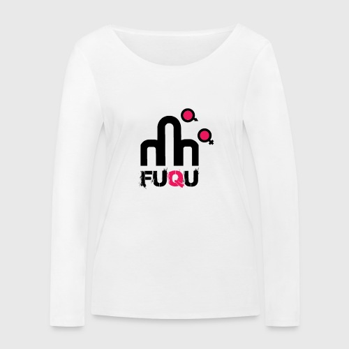 T-shirt FUQU logo colore nero - Maglietta a manica lunga ecologica da donna di Stanley & Stella