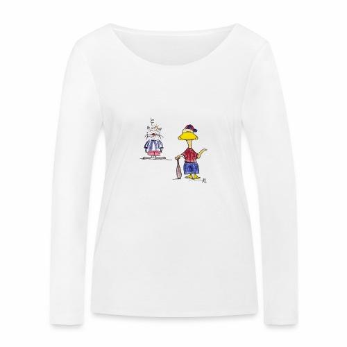 Cartoon Baseball - Frauen Bio-Langarmshirt von Stanley & Stella
