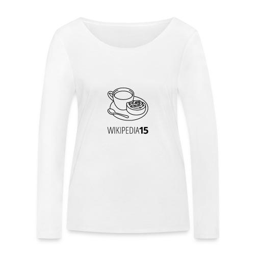 Fika, figursydd, vit - Ekologisk långärmad T-shirt dam från Stanley & Stella