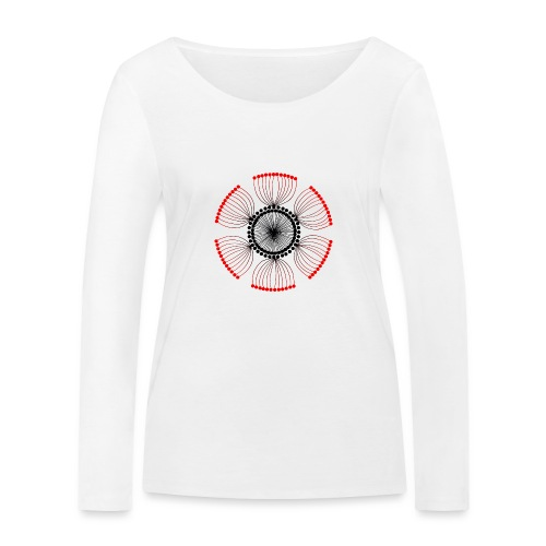Red Poppy Seeds Mandala - Women's Organic Longsleeve Shirt by Stanley & Stella