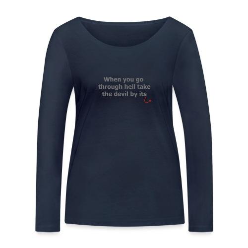 diable - T-shirt manches longues bio Stanley & Stella Femme