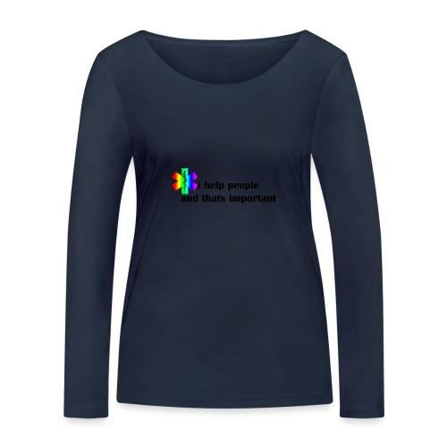 i help people - Vrouwen bio shirt met lange mouwen van Stanley & Stella