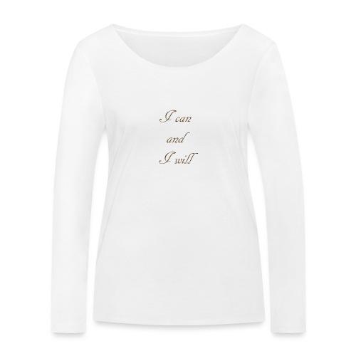 Je peux et je vais - T-shirt manches longues bio Stanley & Stella Femme